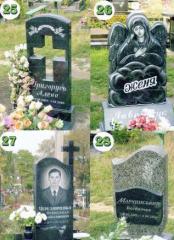 Надгробные памятники из гранита Ирпень