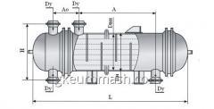 Теплообменный аппарат с неподвижными трубными решетками и температурным компенсатором на кожухе диаметром 400, 600 и 800 мм повышенной тепловой эффективности