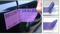 Protective labels of PURPLE STOP