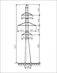 Промежуточная опора П110-2в