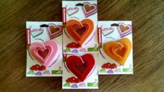 Формочки для печенья сердечко, упаковка 6шт.