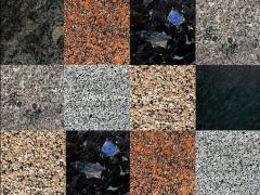 Granite stone blocks of a plate of a paving, tile,