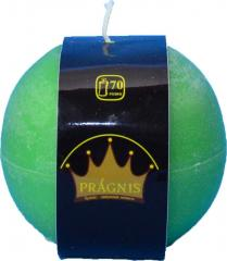 Candel Rustic Ball green ( D-10 х 10, 70 hours )