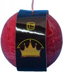 Candel Rustic Ball cherry ( D-10 х 10, 70 hours )