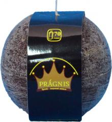 Candel Rustic Ball chocolate ( D-10 х 10, 70 hours