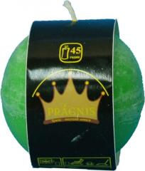 Candel Rustic Ball green ( D-8 х 8, 45 hours )