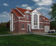 Дома кирпичные жилые - проекты, строительство