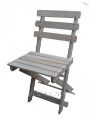 Стульчик раскладной дерев'янный со спинкой для пикника