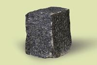 Брусчатка колотая габбро цвет черный 10*10*10