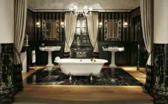 Bathtubs are acrylic, a bathtub