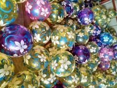 Мяч резиновый CL12-023,  300шт,  Цветы...