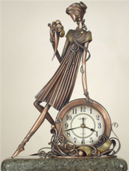 Sculpture fireplace clock