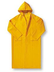 Raincoat the rubberized PVC