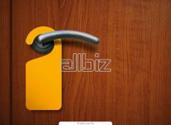 Information card on the door handle