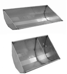 Feeding trough from stainless steel of 44 cm, for