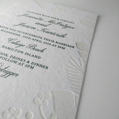 Пригласительные на свадьбу высокой печатью с каллиграфией 006