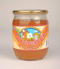 Retail condensed milk boiled with sugar from the