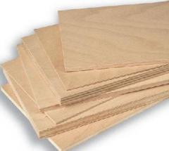 Plywood in sheets 1600 2100 10, 5 hornbeam,