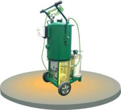 Installation vacuum for a UVD-4 oil dolivka