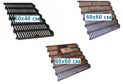 Pig-iron and metal lattices for floors of pig
