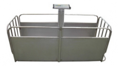 Scales mobile for weighing of pigs, and other
