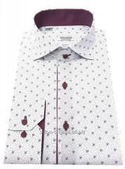 Рубашка мужская приталенная в принт №S 55.10 SF
