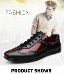 Модные брендовые мужские туфли из натуральной кожи