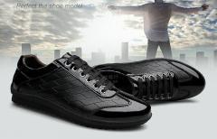 Мягкие, дышащие мужские туфли из натуральной кожи на плоской подошве.