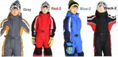 Водонепроницаемый ветрозащитный лыжный комбинезон для мальчиков и девочек.