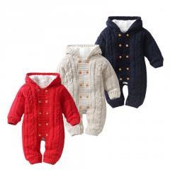 Вязаные, теплые, детские, зимниекомбинезоны для новорожденных, для детей ясельного возраста. В подарок-(ползунки)