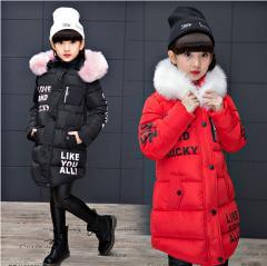 Детская теплая одежда принцессы , куртка с воротником