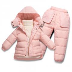 Детский зимний комбинезон-комплект-(лыжный костюм)