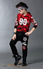 Камуфляжный спортивный костюм-(CUHK) с капюшоном для мальчиков