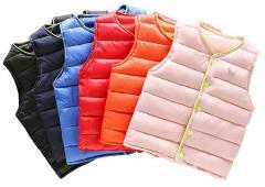 Детские дышащие пуховые жилеты для мальчиков и девочек.