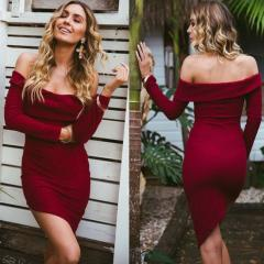 Вязаное платье-( с открытыми плечами)