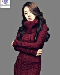 Вязаный свитер с воротником-(Хомут) для женщин.