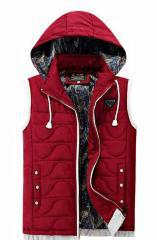 Зимние, модные, мягкие мужские жилеты с капюшоном.