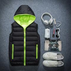 Модные, теплые, зимние жилеты с капюшоном для мужчин.