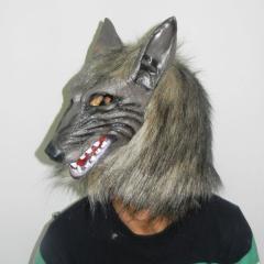 Маскарадная маска-(Серый волк)