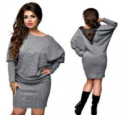 Зимние платье с капюшономбольших размеров.