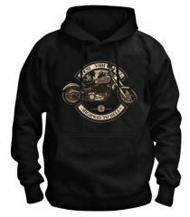 Брендовая модная зимняя толстовка Хип-Хоп с логотипом-(мотоцикла) с капюшоном.