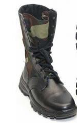 """Ботинки кожаные вставки """"камуфляж"""""""