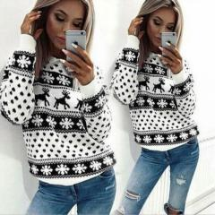 Knitted fashionable women's knit sweaters-