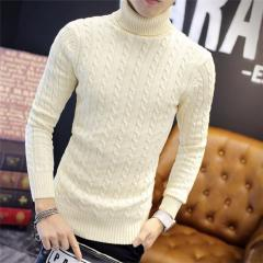 Брендовый мужской вязаный толстый свитер.