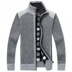 Брендовый мужской толстый шерстяной свитер.