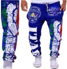 Мужские спортивные штаны-(итальянский флаг).