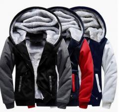 Кашемировая мотоциклетная куртка мужская-(Vol