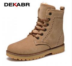 Высококачественные мужские зимние ботинки-(DEKABR) на меху с плюшевой подкладкой