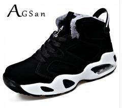 Зимние, теплые, мужские ботинки-(Agsan) на шнуровке