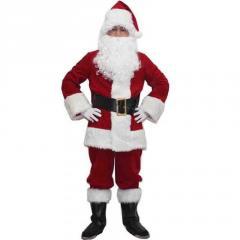 """Карнавальный костюм для взрослых-\""""Санта Клауса \""""9 шт./компл полный набор"""